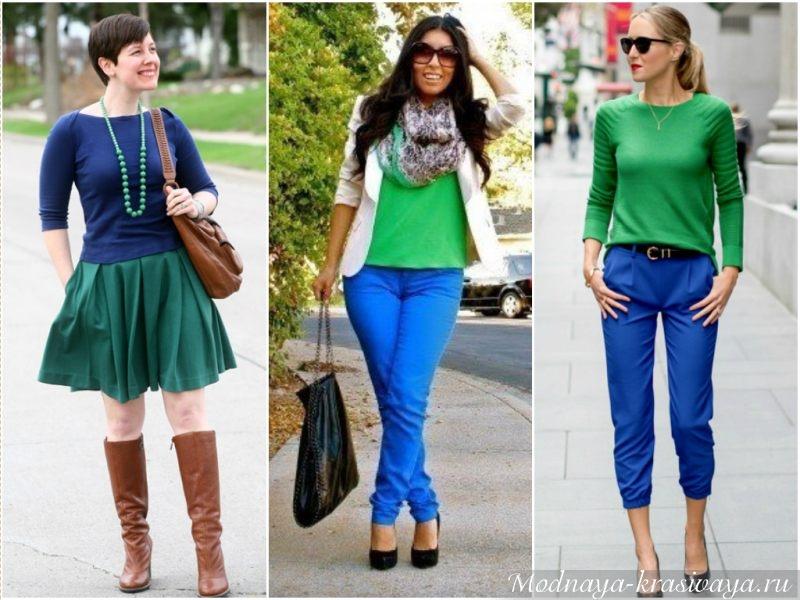 Разнообразные оттенки зеленого