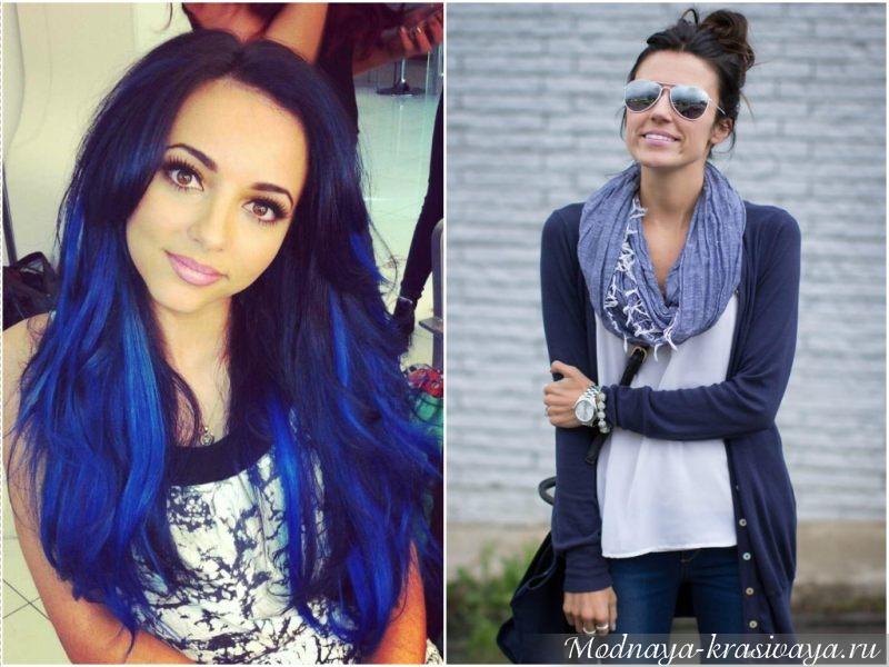 Яркие волосы и стильный шарф
