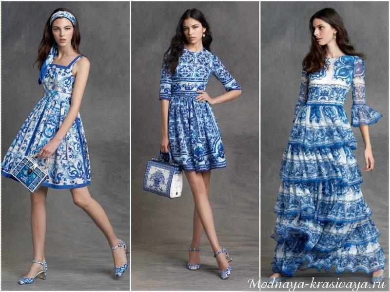 Платья с необычным принтом