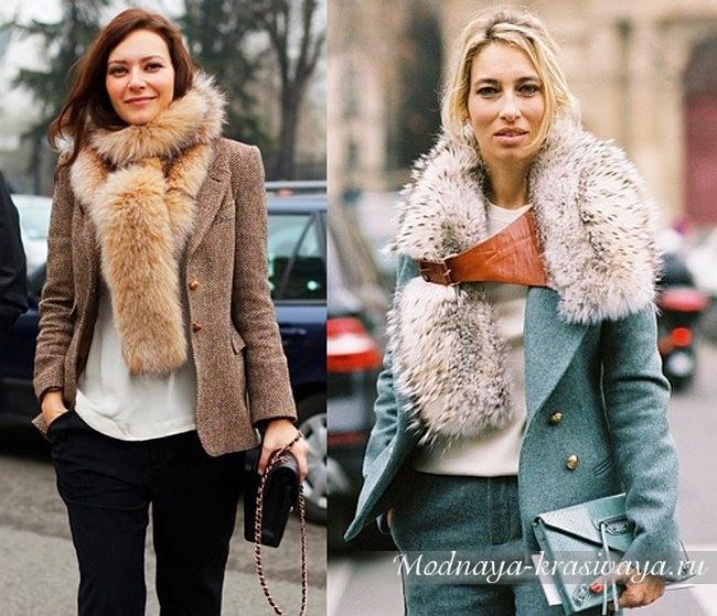 зимние модели из меха