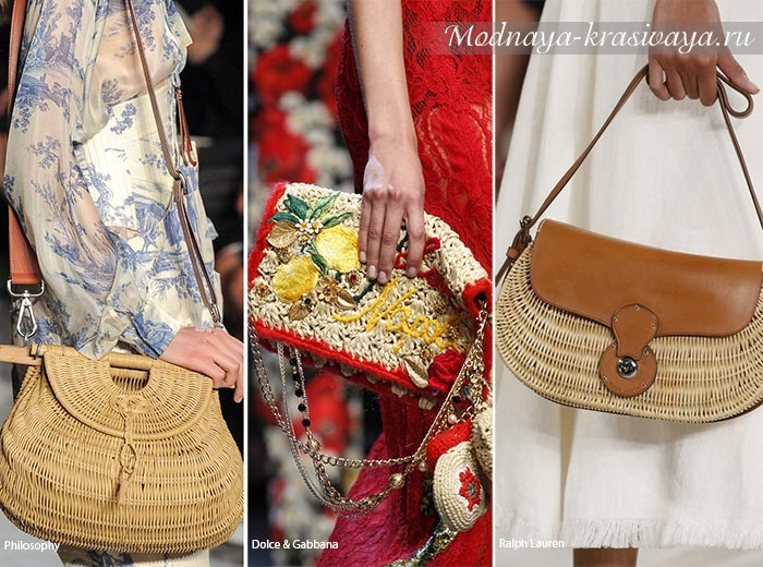 плетеные сумки на лето