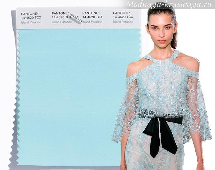 Нежно-голубой - модный цвет 2017 по версии Panton