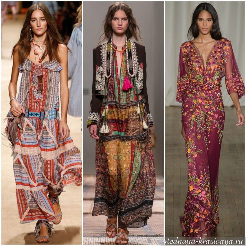 Сарафаны и платья из принтованных тканей
