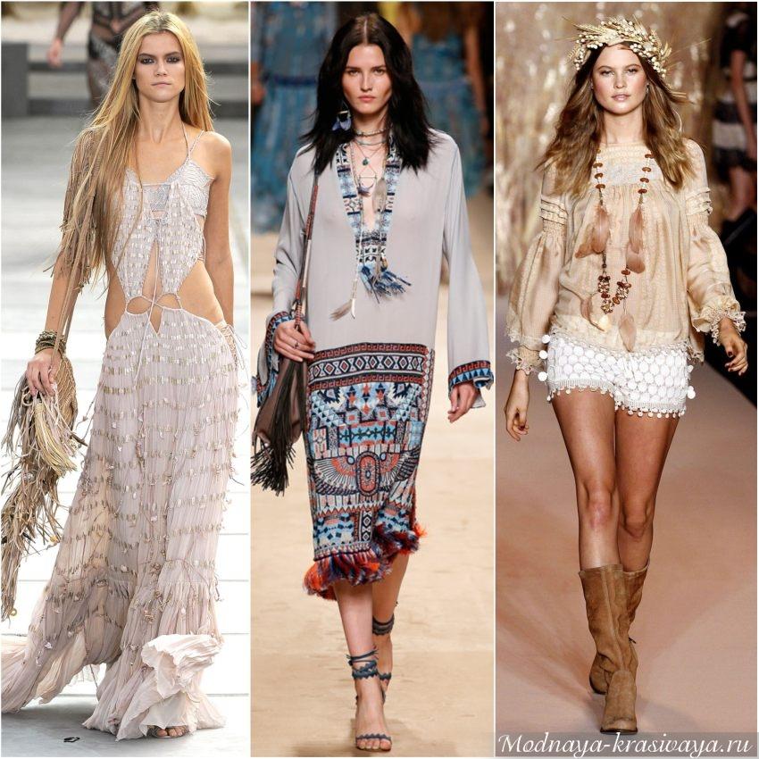 Модные луки в стиле хиппи