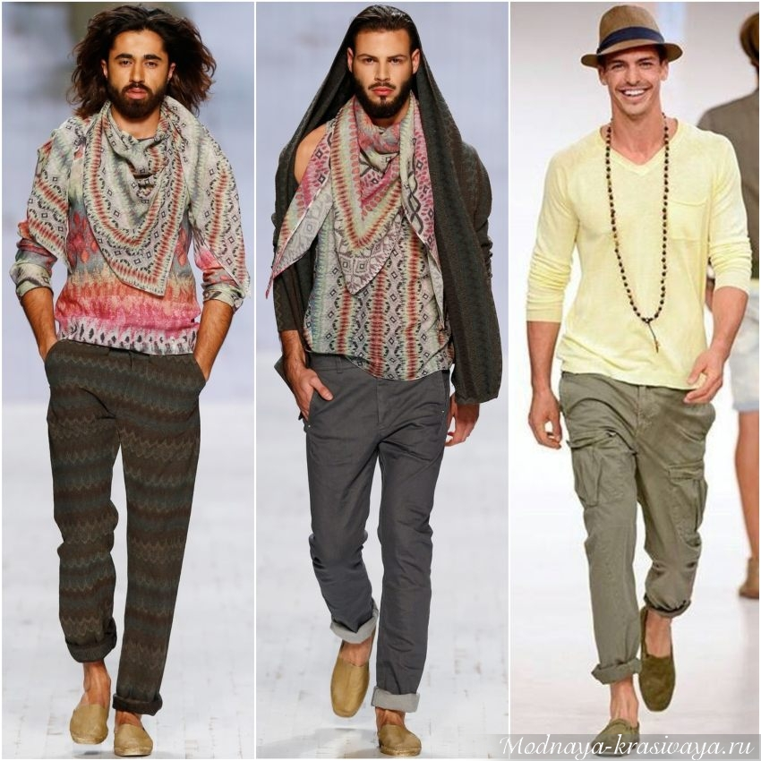 Мужская одежда в стиле хиппи