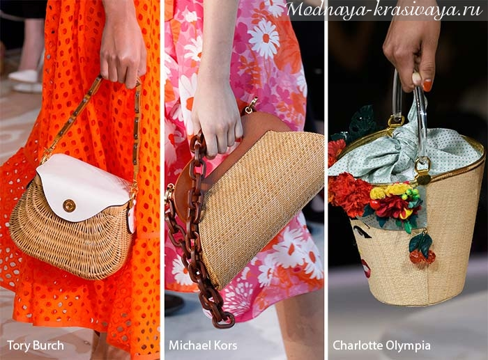 Плетеные и текстильные сумочки