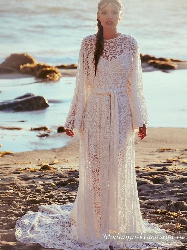 длинное платье невесты