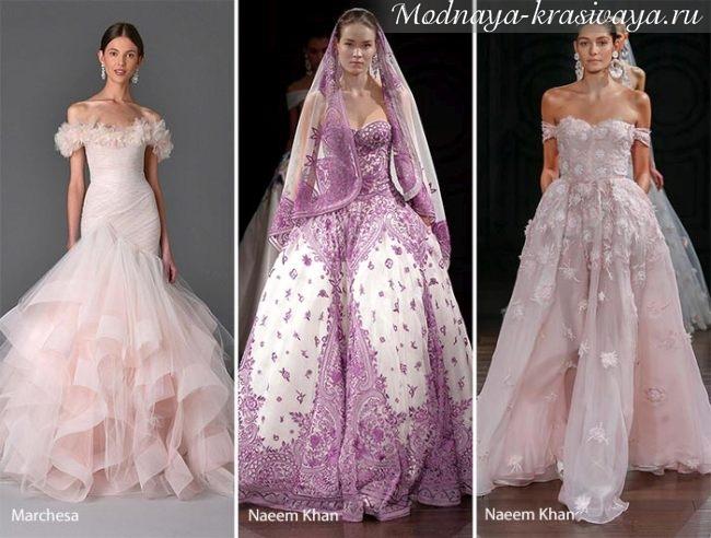 розовые, кремовые, сиреневые платья