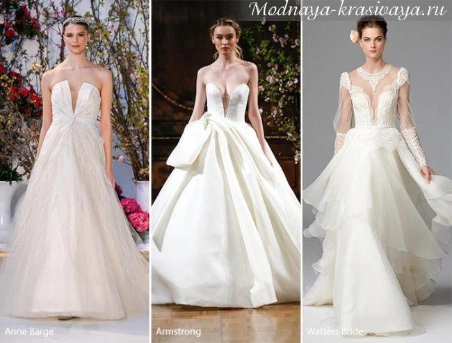 свадебные платья без бретелей