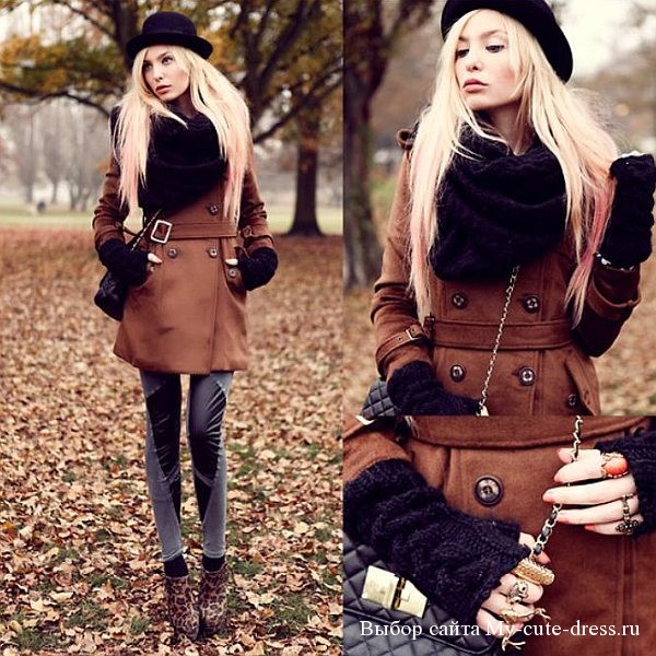 Девушка в кожаном пальто