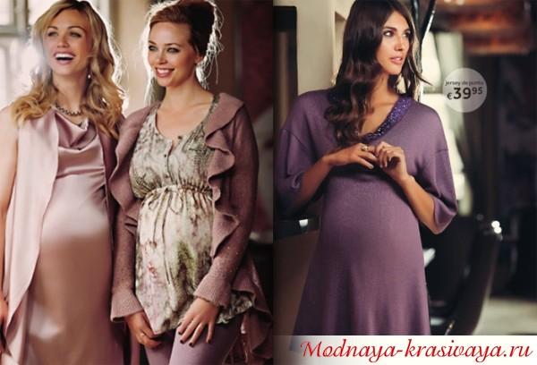 Вечерние платья для беременных, фото