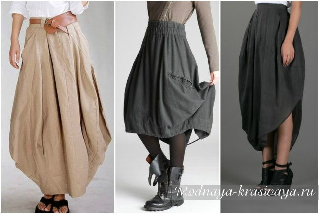 серые юбки