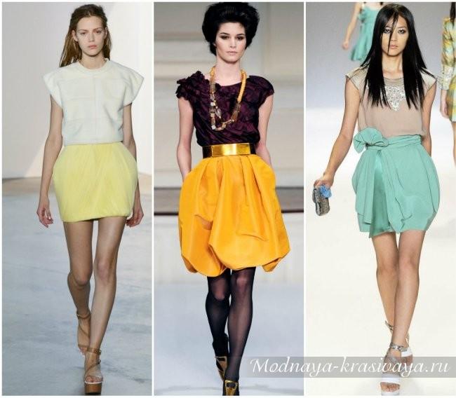 Модная юбка-тюльпан на показах