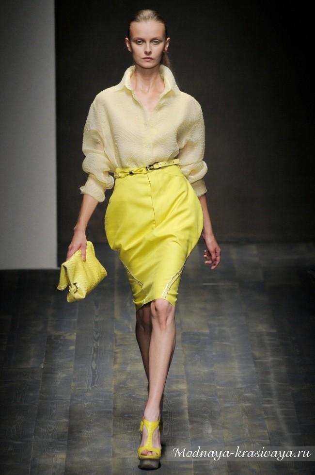 желтая дизайнерская юбка