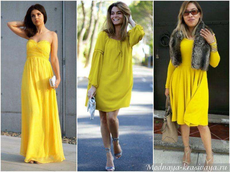 Яркие модели платьев