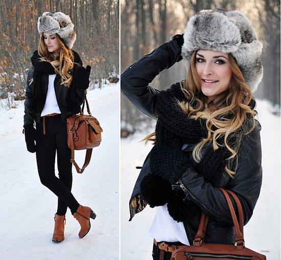 Женская шапка-ушанка, фото
