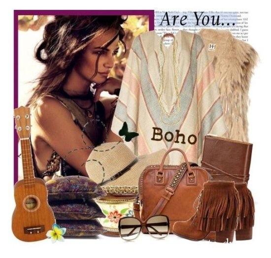 коричневвая сумка и туника